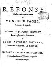 Réponse à la lettre supposée ecrite par M. Fagel