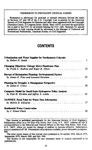 Journal of Water Resources Planning and Management PDF