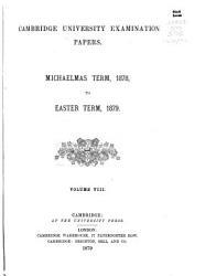 Cambridge University Examination Papers PDF