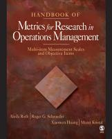 Handbook of Metrics for Research in Operations Management PDF