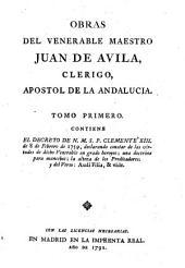 Obras: ¬El decreto de N. M. S. P. Clemente XIII. [¬u.¬a.], Volumen 1
