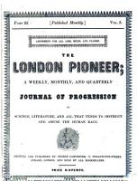 The Penny satirist and London pioneer  afterw   The London pioneer  afterw   The London literary pioneer  afterw   Literary pioneer PDF