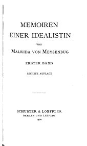 Memoiren einer idealistin: Band 1