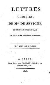 Lettres choisies en français et en anglais: Volume2