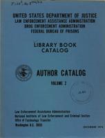 Library Book Catalog  Author Catalog  Volume 2 PDF