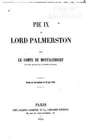 Pie IX et Lord Palmerston