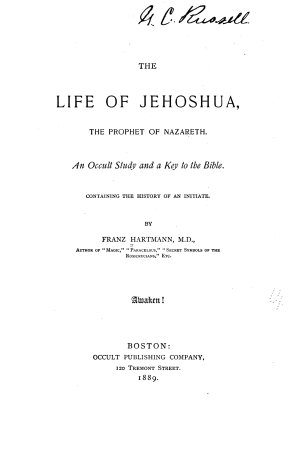 The Life of Jehoshua  the Prophet of Nazareth PDF