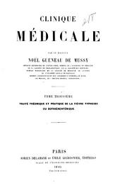 Clinique médicale: Volume 3