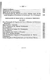 Memoria que el Ministro de Relaciones Exteriores presenta al Congreso Extraordinario de 1879, sobre el conflicto suscitado por Chile contra las repúblicas del Perú y Bolivia