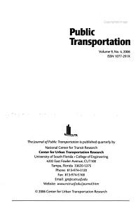 Journal of Public Transportation PDF