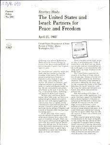 The United States and Israel PDF