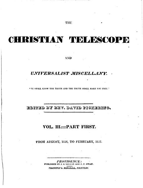 Christian Telescope and Universalist Miscellany
