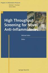 High Throughput Screening for Novel Anti-Inflammatories