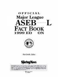 The Official Major League Baseball Fact Book  1999 Edition  PDF