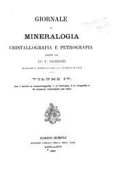Giornale di mineralogia, cristallografia e petrografia: Volume 4