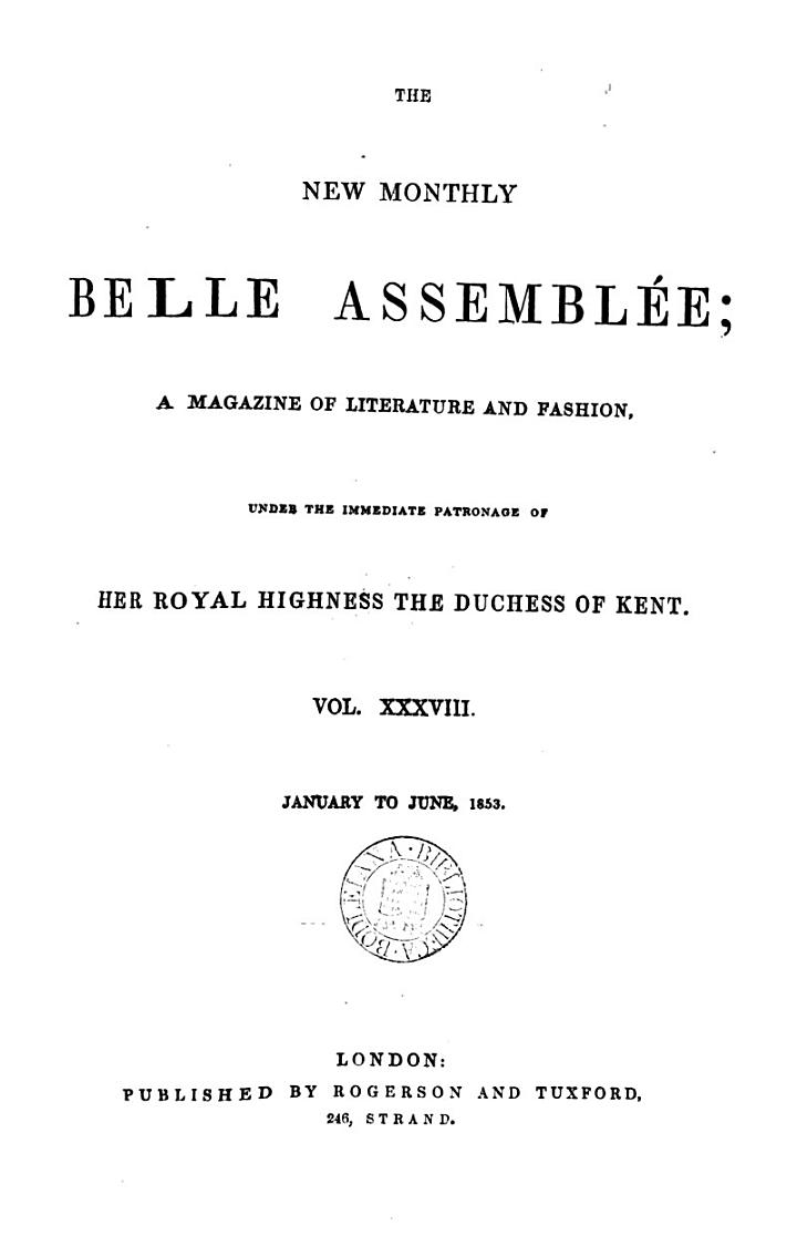 The New Monthly Belle Assemblée