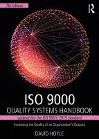 ISO 9000 Quality Systems Handbook updated for the ISO 9001  2015 standard PDF