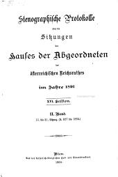 Beilagen zu den stenographischen Protokollen des Hauses der Abgeordneten des österreichischen Reichsrates: Band 2