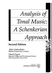 Analysis Of Tonal Music Book PDF