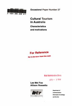 Cultural Tourism in Australia PDF