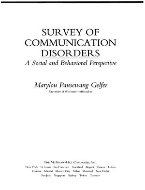 Survey of Communication Disorders PDF