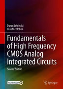 Fundamentals of High Frequency CMOS Analog Integrated Circuits