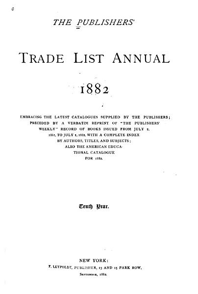Download The Publishers  Trade List Annual Book