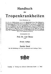 Handbuch der Tropenkrankheiten: Band 2