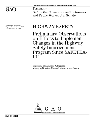 Highway Safety: Preliminary Observations on Efforts to Implement Changes in the Highway Safety Improvement Program Since SAFETEA-LU