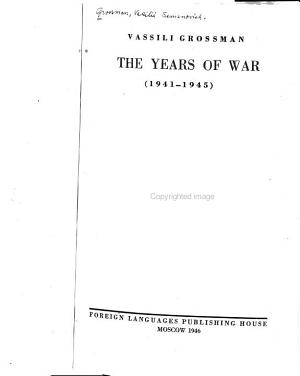 The Years of War  1941 1945