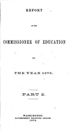 Report of the Commissioner of Education0 PDF