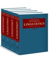 International Encyclopedia of Linguistics PDF