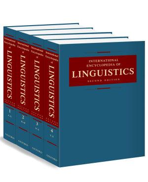 International Encyclopedia of Linguistics