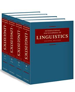 International Encyclopedia of Linguistics Book