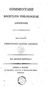Commentarii societatis philologicae Lipsiensis: Volume 2