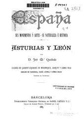 España, sus monumentos y artes, su naturaleza é historia: Asturias y León