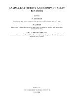 Gamma ray Bursts and Compact X ray Binaries PDF