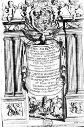 Ulyssis Aldrovandi... de Quadrupedibus Solidepedibus volumen integrum. Joannes Cornelius Uterverius... collegit et recensuit. Hieronymus Tamburinus in lucem edidit...