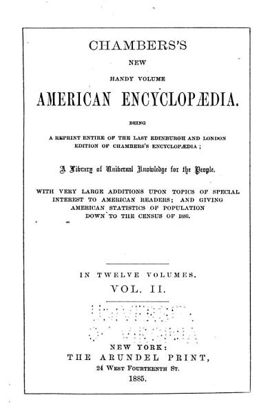 Download Chambers s New Handy Volume American Encyclop  dia Book