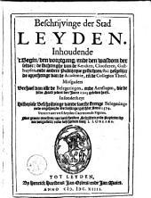 Beschrijvinge der stad Leyden ...