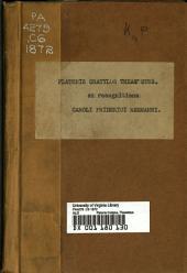 Platonis Cratylus, Theaetetus