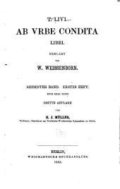 T. Livi ab vrbe condita libri: Band 7,Teil 1