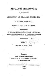 The Annals of Philosophy: Volume 5