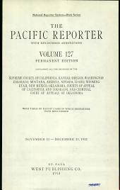 The Pacific Reporter: Volume 127