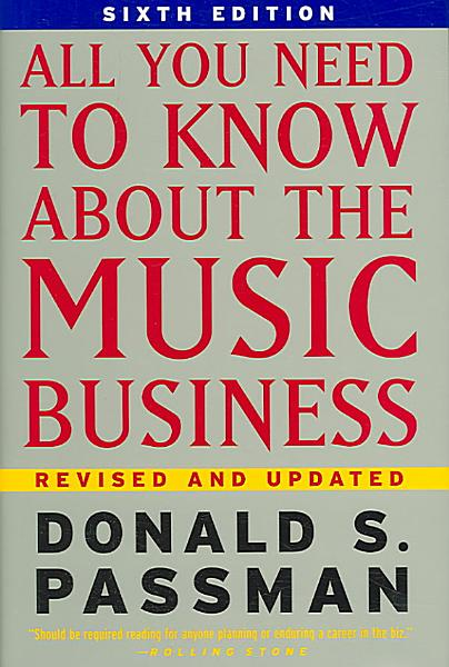 Download All You Need to Know about the Music Business Book