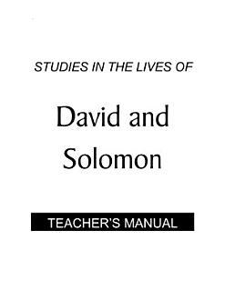 David and Solomon   Teacher s Manual PDF Book