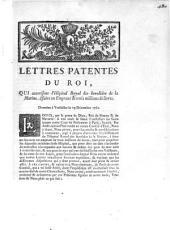 Lettres patentes du roi. Qui autorisent l'Hopital Royal des Invalides de la Marine, afaire un Emprunt de trois millions de livres ...