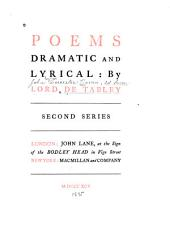 Poems: Dramatic and Lyrical