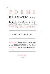 Poems: Dramatic and Lyrical