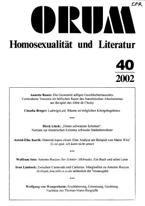 Forum Homosexualit  t und Literatur PDF